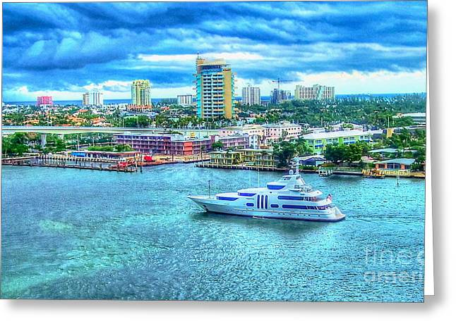 Lauderdale Greeting Card by Debbi Granruth