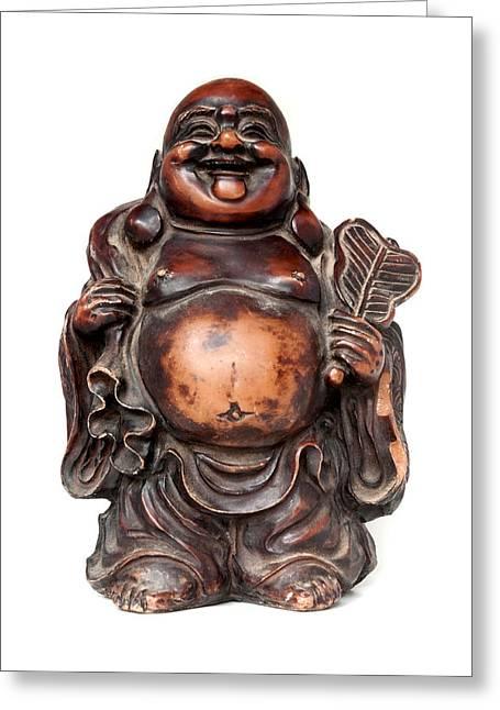 Laughing Buddha Greeting Card by Fabrizio Troiani
