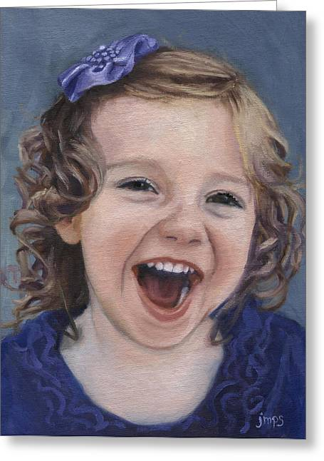 Laughter #15 Greeting Card by Jean  Smith