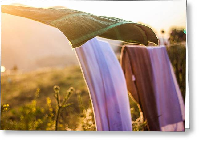 Laundry Greeting Card by Aiden Kashi