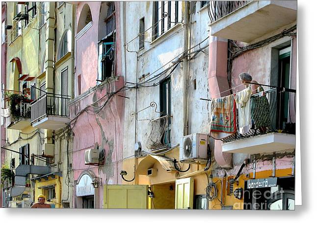 Laundry Day In Procida Greeting Card