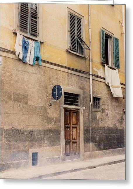 Laundry Day In Verona Greeting Card