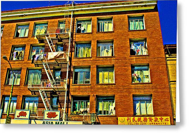 Laundry Day Greeting Card by Joseph Coulombe