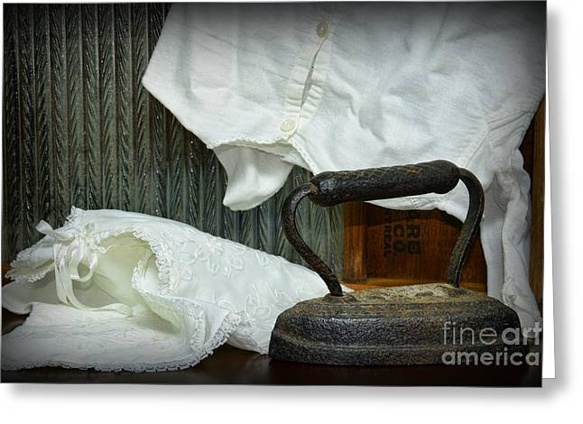 Laundry - Ironing Day Greeting Card by Paul Ward