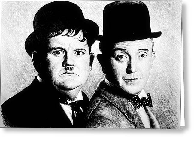 Laurel And Hardy Another Fine Mess Greeting Card