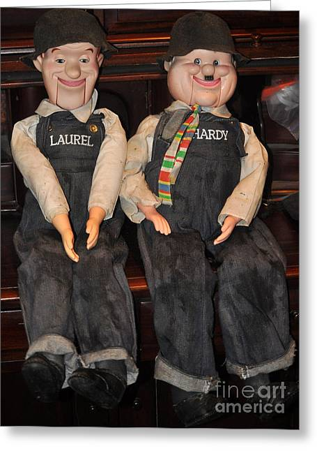 Laurel And Hardy Puppets Photograph by Jay Milo – Laurel and Hardy Birthday Cards