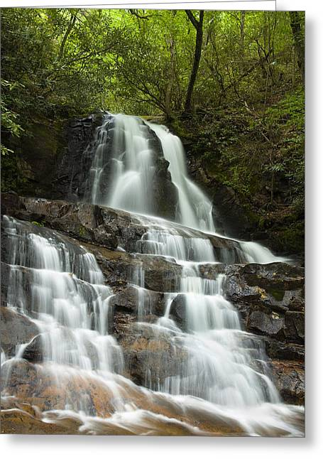 Tennessee River Greeting Cards - Laurel Falls Cascades Greeting Card by Andrew Soundarajan