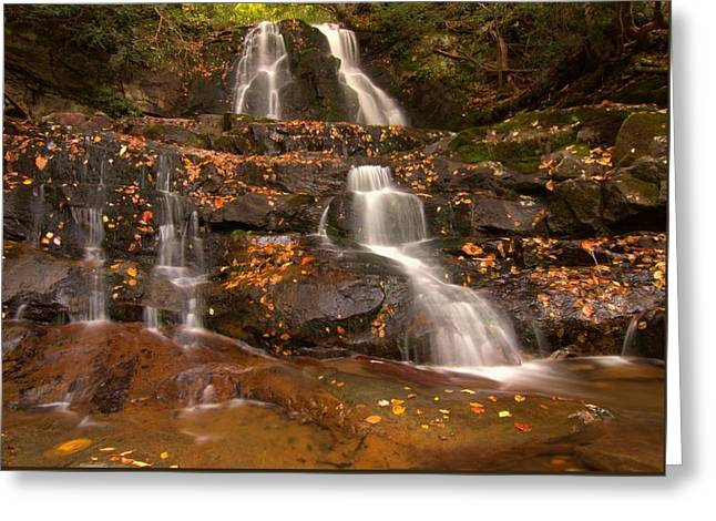 Laurel Falls In Great Smoky Mountains National Park In Autumn Greeting Card