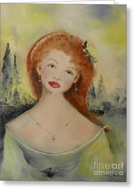 Greeting Card featuring the painting Laurel by Laurie Lundquist