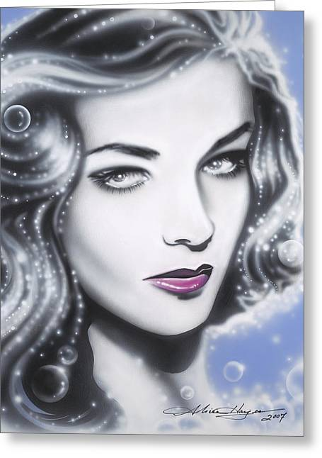 Lauren Bacall Greeting Card by Alicia Hayes
