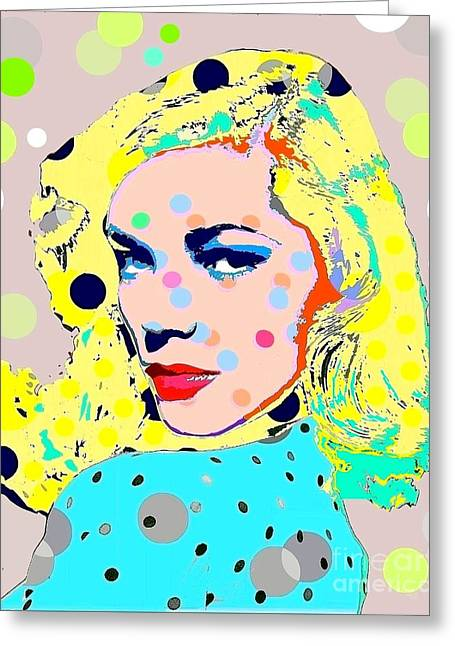 Lauren Bacall Greeting Card by Ricky Sencion