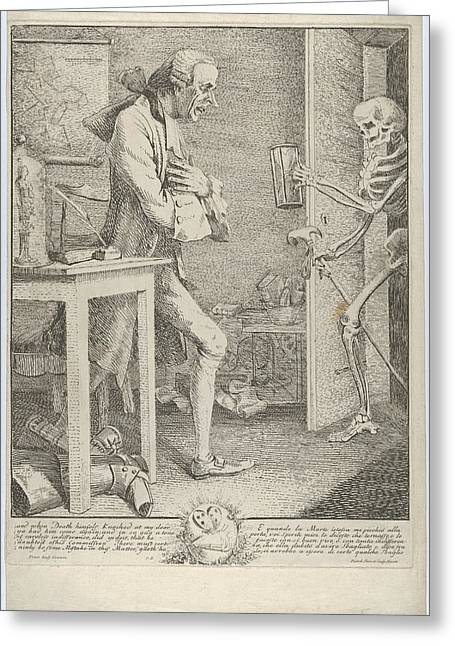 Laurence Sterne, Alias Tristram Shandy Greeting Card by Thomas Patch