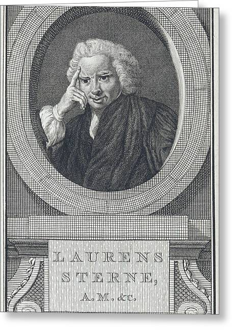 Laurence Sterne Greeting Card by British Library