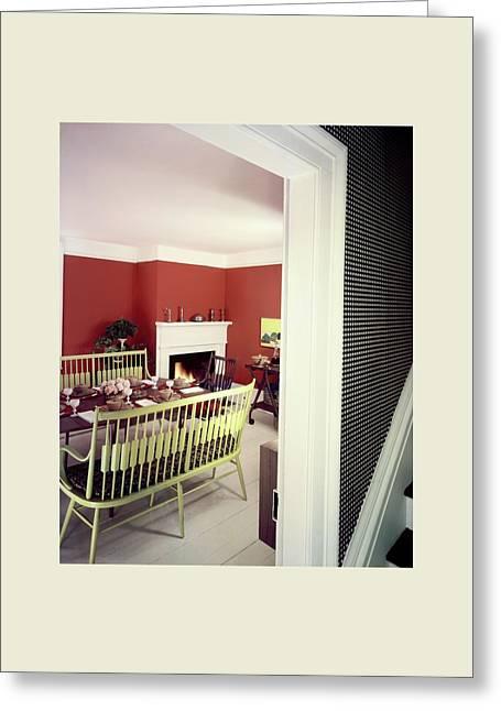 Laurens W. Macfarland's Dining Room Greeting Card by Tom Leonard