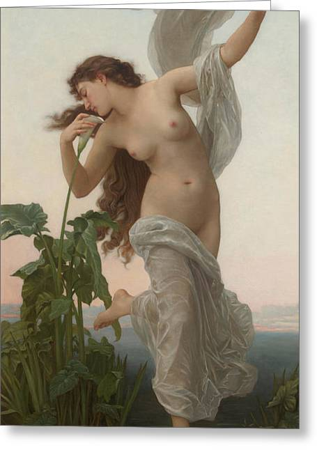 L'aurore Greeting Card by William Adolphe Bouguereau
