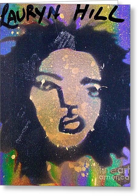 Lauryn Hill Inksplash Greeting Card