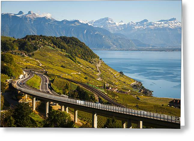 Lausanne To Montreux Greeting Card