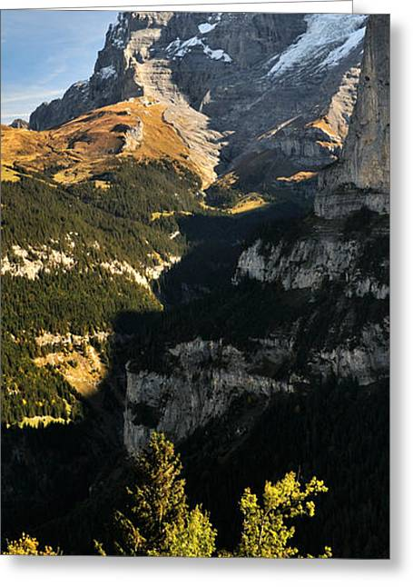 Lauterbrunnen Valley With Mt Eiger Greeting Card by Panoramic Images