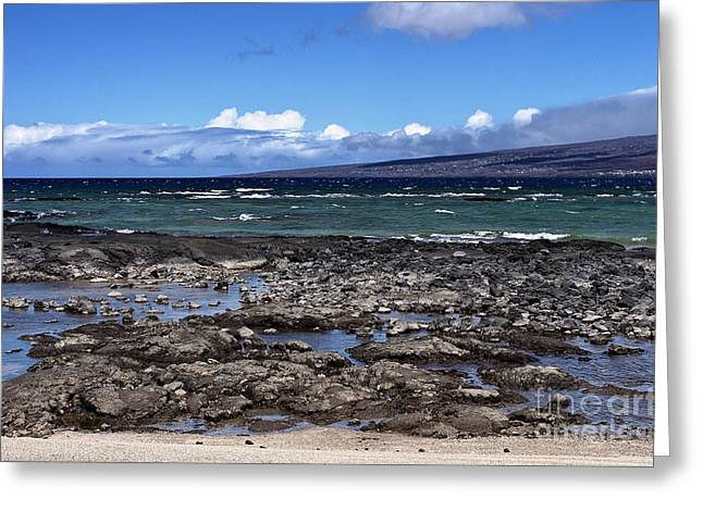 Lava Beach Greeting Card by Karl Voss