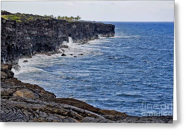 Greeting Card featuring the photograph Lava Cliffs by Gina Savage