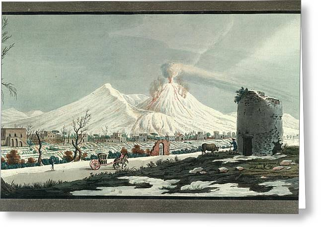 Lava Erupting From Mt. Vesuvius Greeting Card