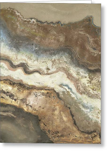Lava Flow Panel I Greeting Card by Patricia Pinto