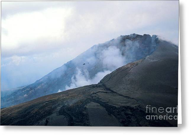 Lava From Puu Oo Vent, Kilauea, Hawaii Greeting Card by Gregory G. Dimijian, M.D.