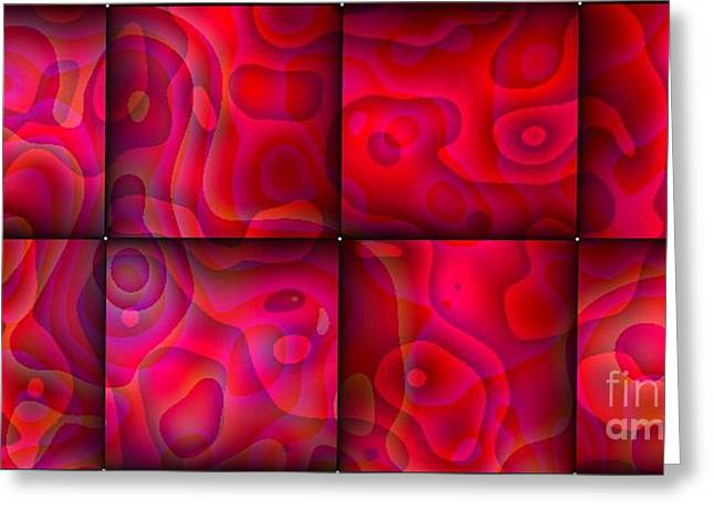 Greeting Card featuring the digital art Lava Lamp Abstract 1  By Saribelle Rodriguez by Saribelle Rodriguez