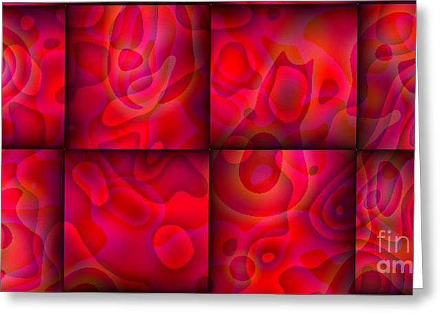 Greeting Card featuring the digital art Lava Lamp Abstract 2  By Saribelle Rodriguez by Saribelle Rodriguez