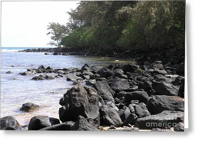 Lava Rocks Greeting Card by Mary Deal