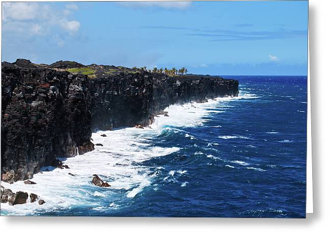Lava Shore Greeting Card
