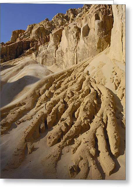 Lavaka Or Erosion Scars Madagascar Greeting Card by Pete Oxford