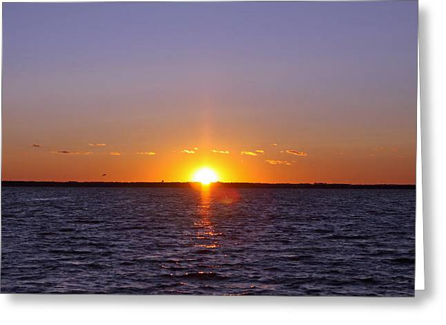 Lavallette Sunset I Greeting Card by Dave Dos Santos
