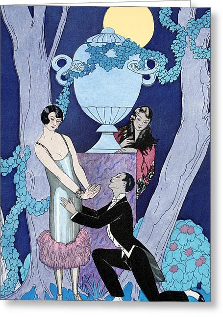 L'avarice Greeting Card by Georges Barbier