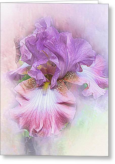 Greeting Card featuring the digital art Lavendar Dreams by Mary Almond
