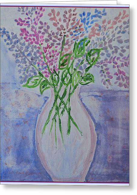 Lavendar  Flowers Greeting Card by Sonali Gangane