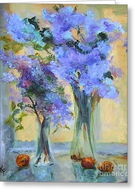 Lavender Bliss Greeting Card by Kathleen Farmer