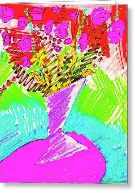 Lavender Boquet Greeting Card
