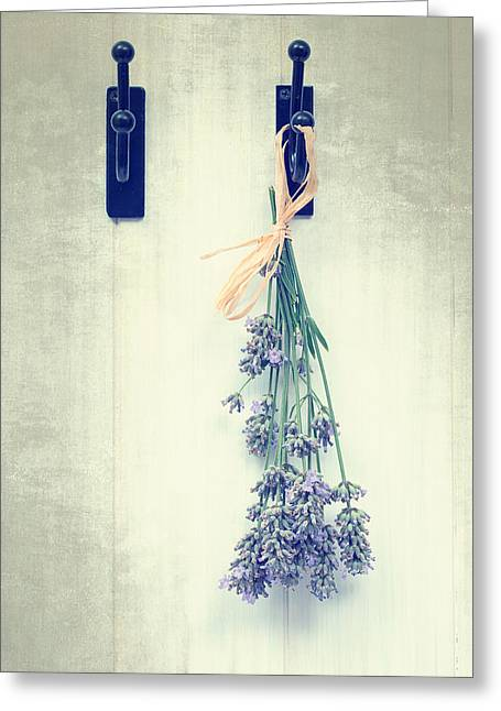 Lavender Greeting Card by Amanda Elwell