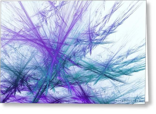 Lavender Crosshatch Greeting Card by Elizabeth McTaggart
