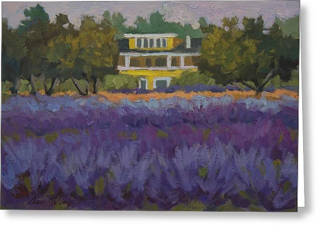 Lavender Farm On Vashon Island Greeting Card by Diane McClary