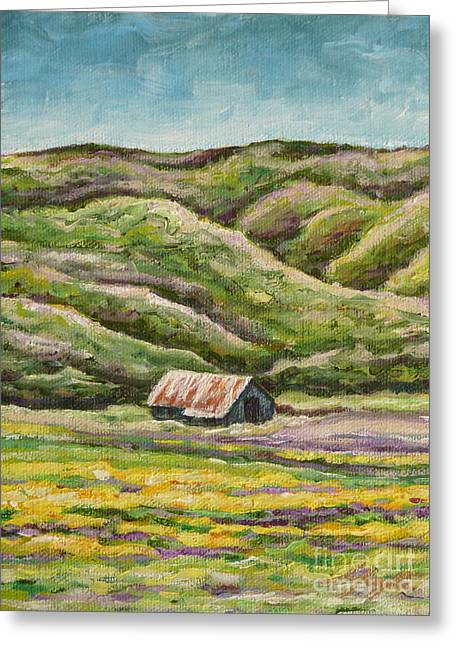 Lavender Fields Greeting Card by Gayle Utter