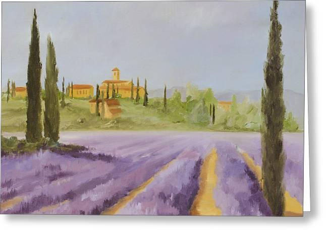 Lavender Fields I Greeting Card by Logan Gerlock