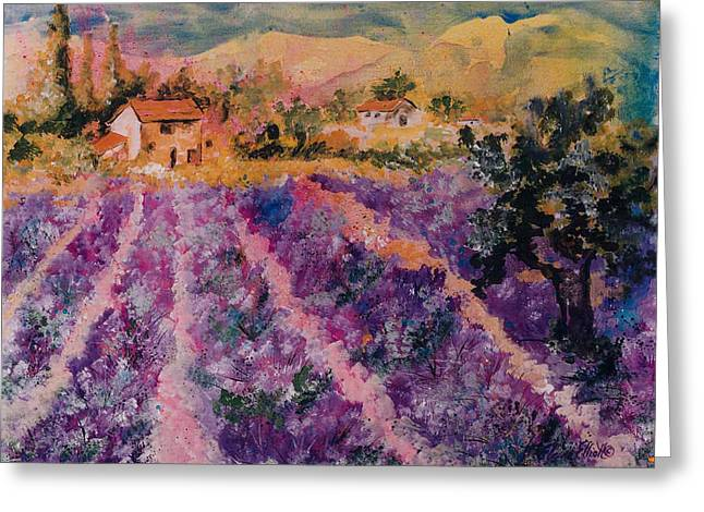 Lavender Fields In Provence Greeting Card