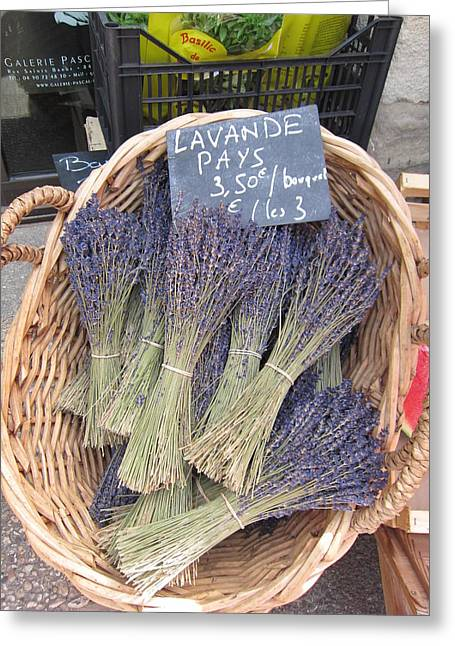 Lavender For Sale Greeting Card by Pema Hou