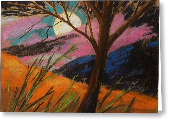 Lavender Glowing Greeting Card by John Williams