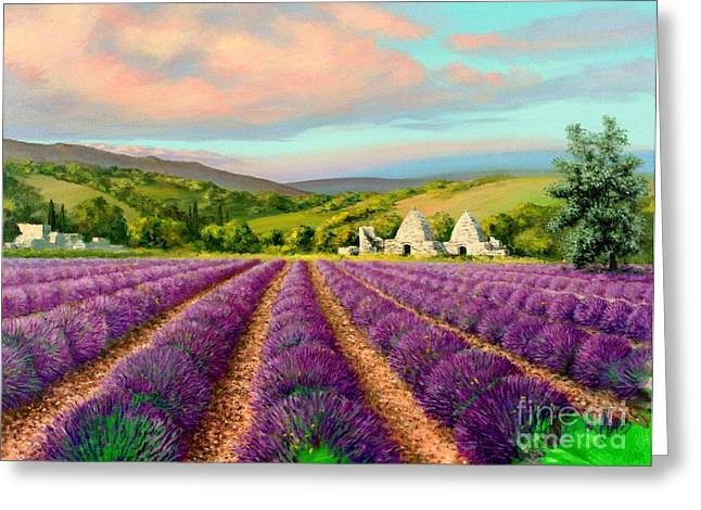 Lavender II Greeting Card by Michael Swanson