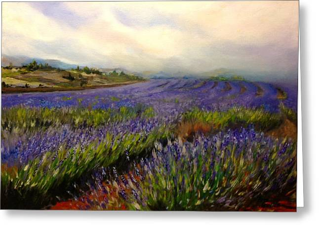 Lavender In Oil Greeting Card