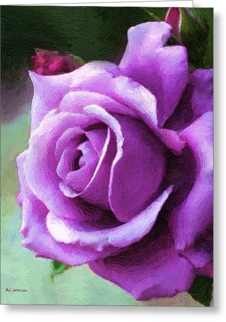Lavender Lady Greeting Card