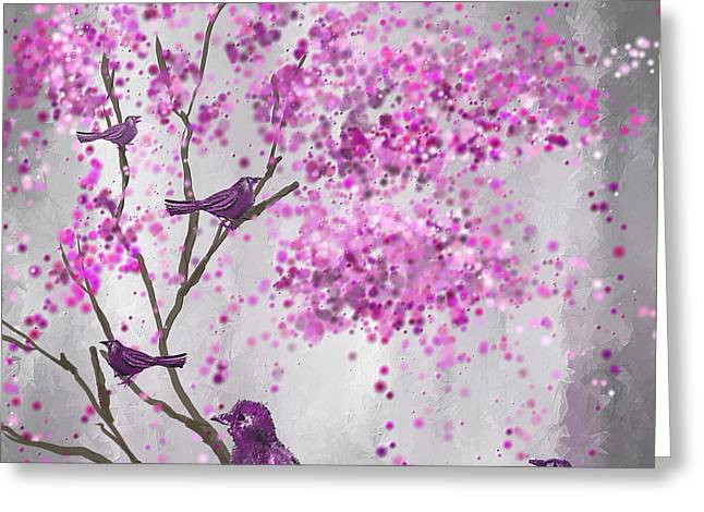Lavender Leisure- Lavender Wall Art Greeting Card